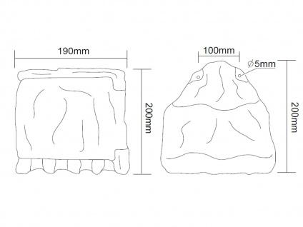 Außensteckdosen Steinoptik 2 fach mit Zeitschaltuhr 2er Set Gartensteckdosen - Vorschau 5