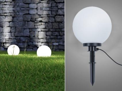 LED Kugelleuchte für den Garten Strom Ø 30 cm Dekokugeln Beetleuchten Weglampen