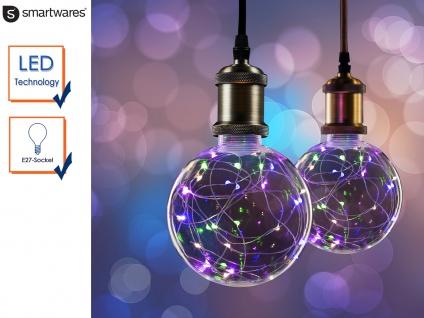 LED Deko Leuchtmittel Kugel E27 30 bunte LEDs, Stimmungsleuchtmittel Partylicht