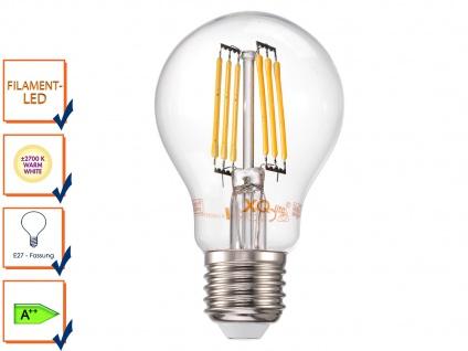 FILAMENT-LED E27, 6 Watt, 600 Lumen, 2700 Kelvin, warmweiß Leuchtmittel