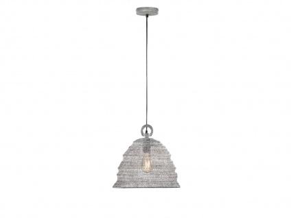 Design Pendelleuchte mit Lampenschirm betonfarben 33cm, moderne Esstischlampe