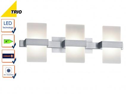LED Wandleuchte Wandlampe PLATON Aluminium Acryl weiß 50x11cm 3x 4, 5W
