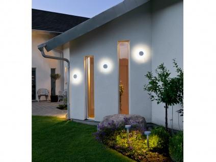 Konstsmide LED Außenwandleuchte PESARO 13cm, grau, IP44, Beleuchtung Fassade - Vorschau 5