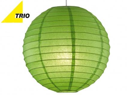 Trio Lampenschirm Japan-Kugel PAPER Papier grün Ø 40cm, Pendelleuchte Lampion