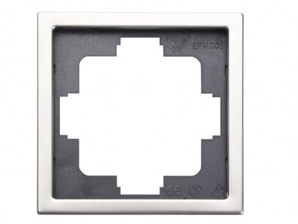 1-fach Rahmen / Blende, Edelstahl beschichtet, für den Innenbereich, GAO - Vorschau 1