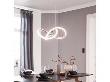 LED Pendelleuchte INDIGO, Chrom, H. 150cm, LED Hängeleuchte Hängelampe Pendel