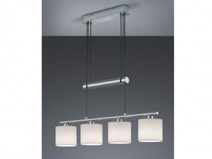 Hängelampe mit Stoffschirmen E27-Fassung L 65cm Pendel Esstischlampen 2-fl