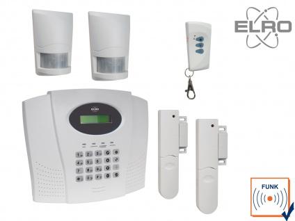 Funk Alarmanlage Komplettsystem mit Telefonwählgerät ELRO Haussicherheitstechnik