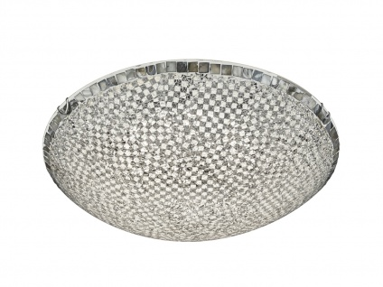 LED Deckenbeleuchtung - Switch Dimmer Deckenlampe Metall & Glas in Silber, ?50cm