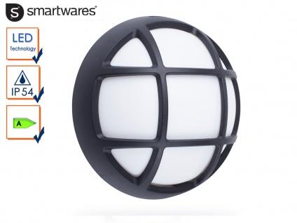 LED Außenleuchte / Kellerleuchte schwarz für Wand und Decke, Ø 17cm, Wandlampe