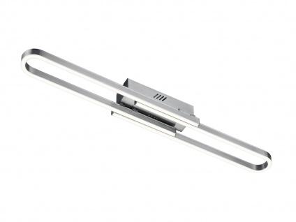 LED Switch Dimmer Deckenleuchte für Innen, Gesamtbreite ausziehbar, Nickel matt