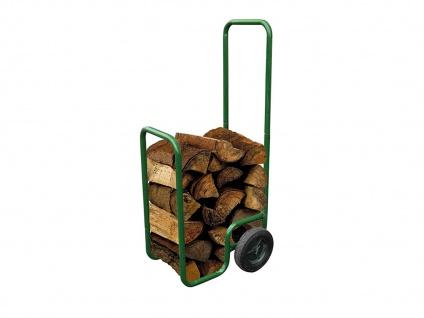 Stabile Sackkarre für Brennholzkarre Traglast 100kg Spezial Kaminholzkarre grün