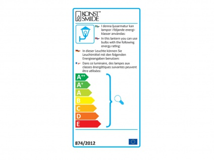 Konstsmide Außenwandleuchte BOLZANO dimmbar, Edelstahl Fassadenbeleuchtung IP44 - Vorschau 3