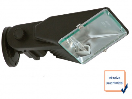 Halogenaußenstrahler 140W Aluminium schwarz Flutlicht für Fassadenbeleuchtung