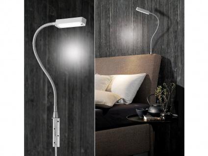 LED Leselampe Silber dimmbar, Bett Lampe Leuchte fürs Kopfteil Couch Wandmontage