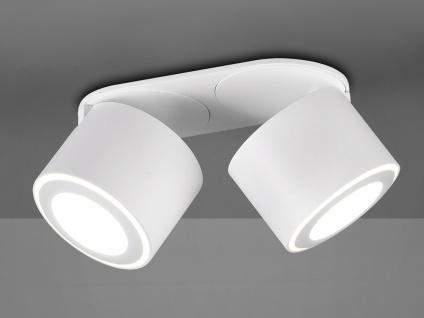 LED Deckenstrahler 2-flammig Weiß schwenkbare Deckenlampen für Flur und Diele - Vorschau 4