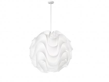 Ausgefallene LED Kugel Pendelleuchte Kunststoff weiß, Ø 70cm dimmbare Hängelampe