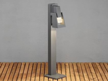 2er-Set Wegeleuchten POTENZA Sockelleuchten austauschbares LED Modul - Vorschau 4