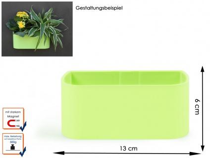Kunststofftopf mit Magnet B. 12 cm, Lime, Wandaufbewahrung Wanddeko, KalaMitica