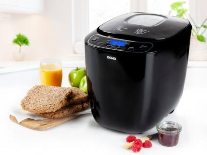 Brotbackautomat mit Timer & 12 Programmen, 700-1000g Brot backen auch glutenfrei
