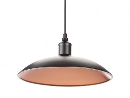Vintage Hängelampe Industrielampe Ø32cm Metall schwarz / bronze, Pendelleuchte - Vorschau 2
