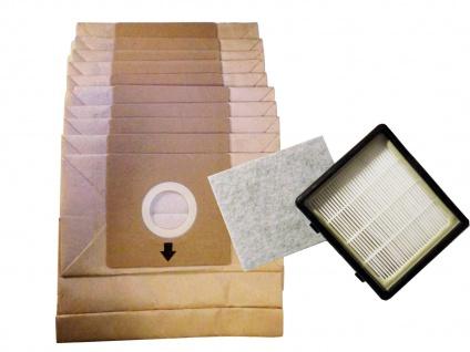10er Pack Staubsaugerbeutel + Motorfilter-Set zu Staubsauger DO7283S / DO7284S