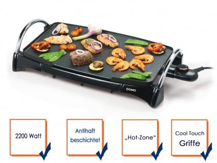 Family Teppanyaki-Grill 2200 Watt - Elektro Tischgrill Partygrill Elektrogrill
