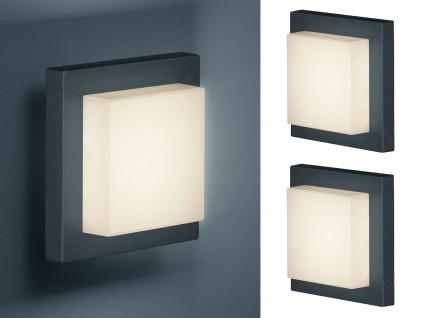 LED Außenwandlampe Anthrazit 2 Außenleuchten für Hauswand Terrassenbeleuchtung