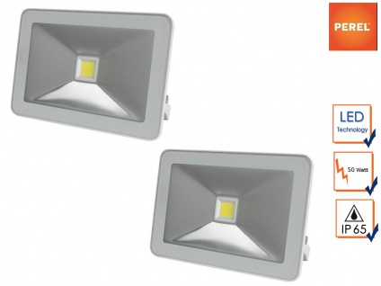 2er Set LED Arbeitsleuchten weiß 50W warmweiß, Scheinwerfer Strahler Baulampen