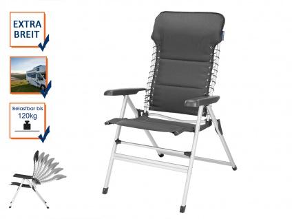 XXL stabiler Alu Campingstuhl gepolstert klappbar & leicht - Camping Relaxsessel