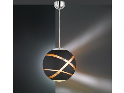 NEUE Hängeleuchte mit GLAS Lampenschirm Ø30cm in schwarz/gold tolle Lichteffekte