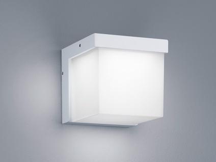 LED Außenwandleuchte Weiß, Terrassenbeleuchtung Wand, DESIGN Würfel, Außenlampe