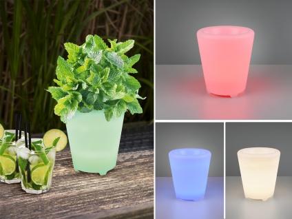 Beleuchteter Blumentopf Outdoor Pflanzkübel Farbwechsel Bluetooth Lautsprecher