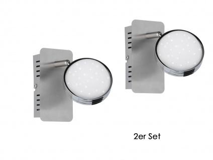 2er Set LED Wandlampe STER, dimmbar, 3000-6500K, Fernbedienung, Wandleuchte Spot - Vorschau 2