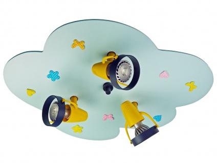 Kinderzimmerlampe hellblau Deckenleuchte 3-flammig Spots schwenkbar Lampe *NEU* - Vorschau 2