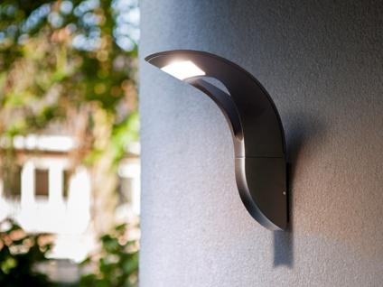 Moderne LED Wandleuchte für den Außenbereich, ausgefallenes Design ALU Anthrazit