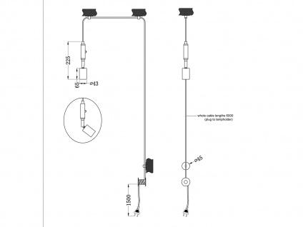LED Pendelleuchte Schwarz mit Stecker für Steckdose 6m langes Kabel Hängelampen - Vorschau 4