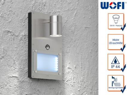 Edelstahl LED Hausnummernleuchte mit Bewegungsmelder, Wandleuchte außen Wege