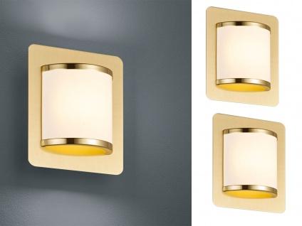 Elegantes Wandleuchten 2er Set mit Schalter & LED Messing matt/weiß Innenlampen