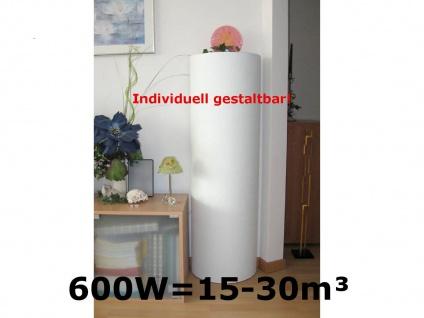 B-WARE: 600W Infrarot Heizsäule 120cm - bemalbare Infrarotheizung Elektroheizung