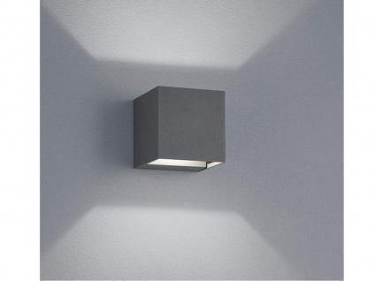 LED Außenwandlampe Kubus UP and DOWN Anthrazit -Außenbeleuchtung Haus & Garten