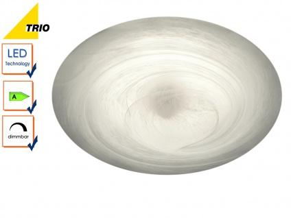 LED Deckenleuchte Deckenlampe ALABASTER Glas alabasterfarbig Ø 40 cm