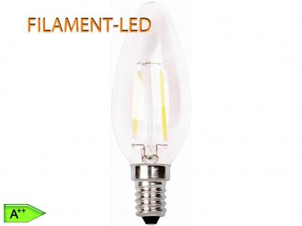FILAMENT-LED Kerze E14, 2 Watt, 200 Lumen, 2700 Kelvin, warmweiß