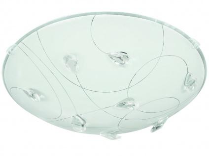 LED Deckenleuchte 40cm, Glas weiß / Kristallglas, Action by Wofi - Vorschau 2