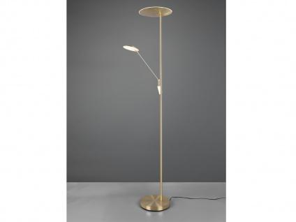 LED Deckenfluter mit Leselampe Messing dimmbar Stehlampen Wohnzimmer Flurlampen