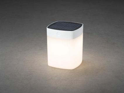 Solar LED Leuchte Weiß 3-Stufen Dimmer Höhe 14, 5cm IP44 Terrassenbeleuchtung - Vorschau 5