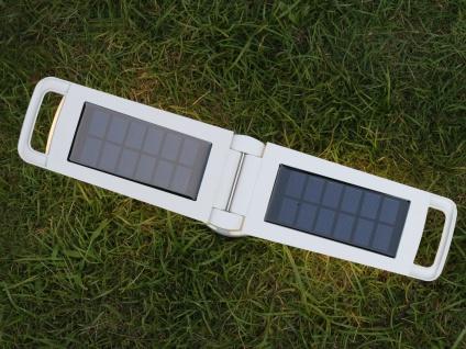 Universal LED Solarleuchte mit USB Ladefunktion dimmbar IP54 H. 28, 2cm Weiß - Vorschau 2