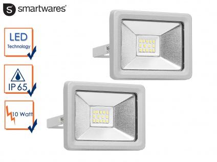 2 Strahler Baustrahler 10W LED neutralweiß Scheinwerfer Arbeitsleuchte Flutlicht
