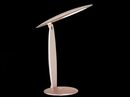 LED Schreibtischleuchte Goldfarbig Kopf neigbar USB Anschluß Bürolampen Diele - Vorschau 4
