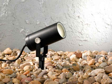 LED Außenleuchte mit Erdspieß oder Außenwandleuchte, Gartenlampe Wegelampe